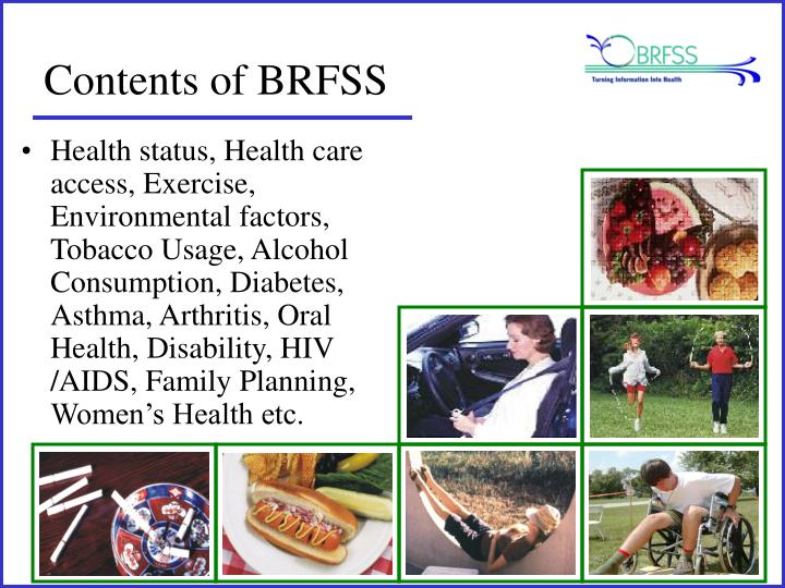 Contents of BRFSS