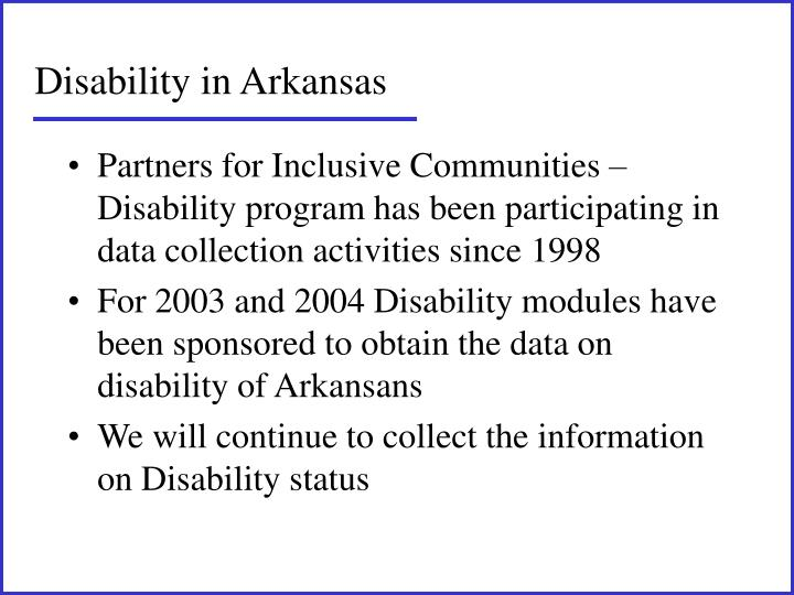 Disability in Arkansas