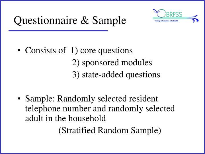 Questionnaire & Sample