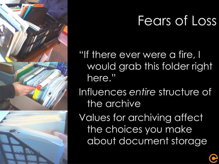 Fears of Loss