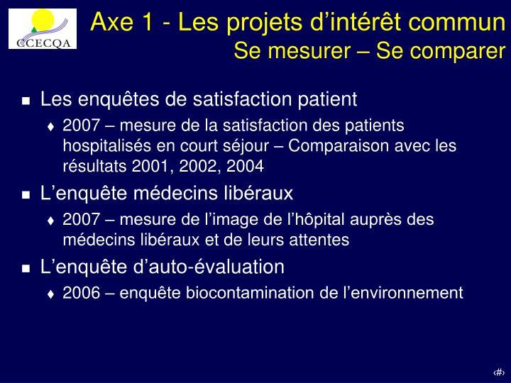 Axe 1 - Les projets d'intérêt commun