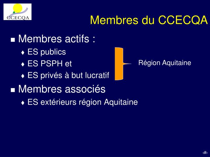 Membres du ccecqa