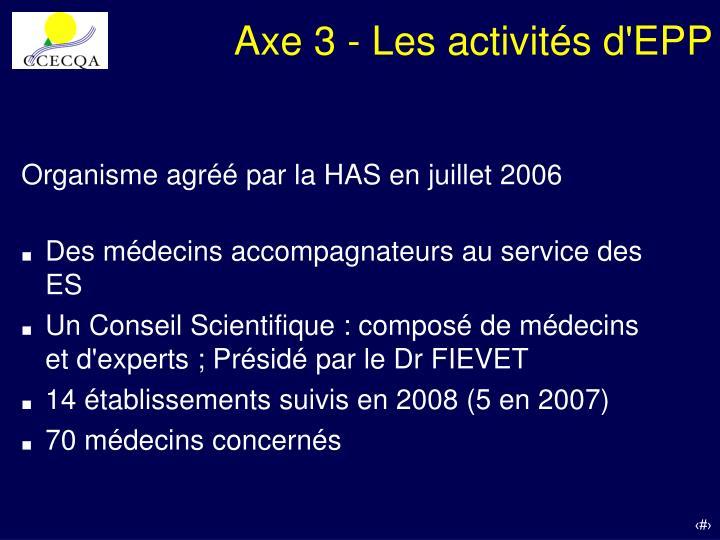 Axe 3 - Les