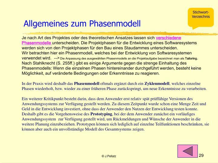 Allgemeines zum Phasenmodell