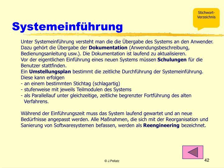 Systemeinführung