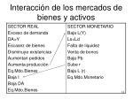 interacci n de los mercados de bienes y activos1