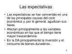 las expectativas