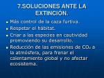 7 soluciones ante la extinci n
