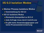 iis 6 0 isolation modes