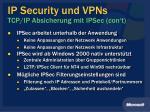 ip security und vpns tcp ip absicherung mit ipsec con t