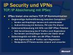 ip security und vpns tcp ip absicherung mit ipsec