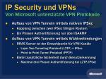 ip security und vpns von microsoft unterst tzte vpn protokolle