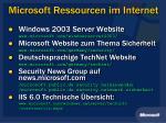 microsoft ressourcen im internet