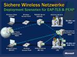 sichere wireless netzwerke deployment szenarien f r eap tls peap