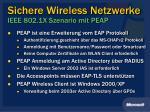 sichere wireless netzwerke ieee 802 1x szenario mit peap
