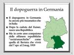 il dopoguerra in germania
