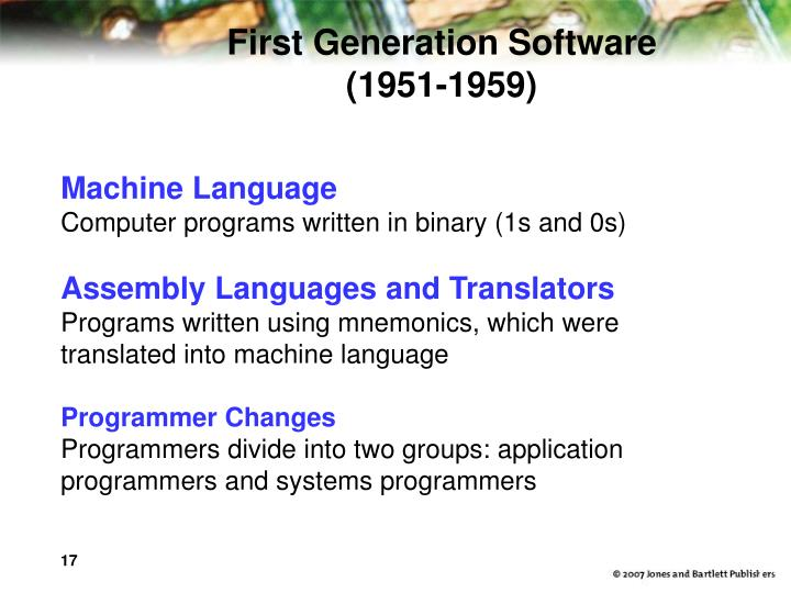 First Generation Software