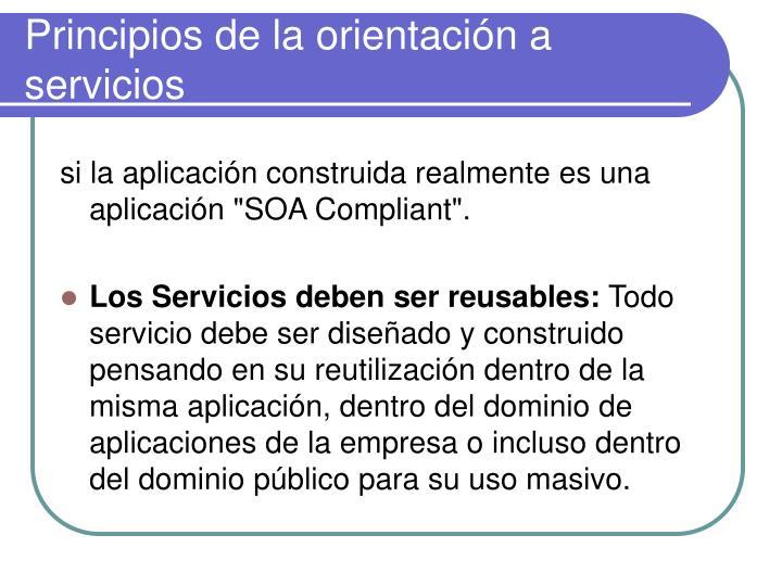 Principios de la orientación a servicios