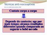 t cnicas anti nociceptivas gray e cols 2000 feldman eldman 2000
