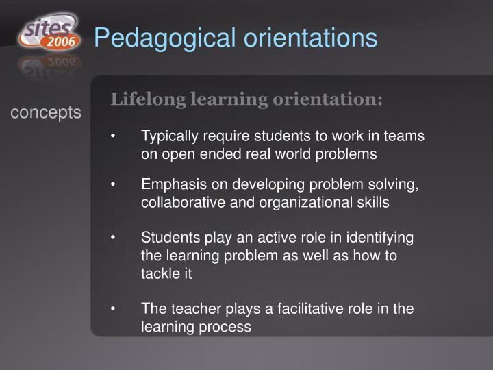 Pedagogical orientations