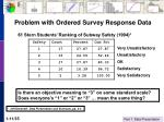 problem with ordered survey response data