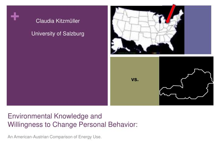 environmental knowledge and willingness to change personal behavior n.