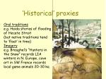 historical proxies1
