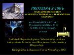 proteina s 100 b marcador pronostico de muerte cerebral en el traumatismo craneano