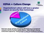 hipaa culture change