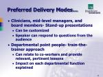 preferred delivery modes1