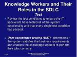 knowledge workers and their roles in the sdlc test