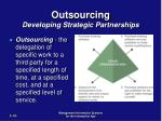 outsourcing developing strategic partnerships