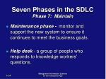 seven phases in the sdlc phase 7 maintain1