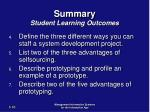 summary student learning outcomes1