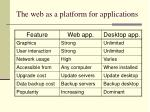 the web as a platform for applications