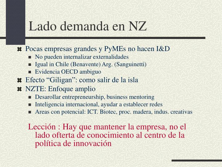 Lado demanda en NZ