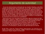 argumento de autoridad