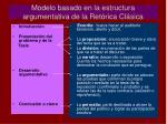 modelo basado en la estructura argumentativa de la ret rica cl sica