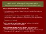 recursos o estrategias argumentativas bellenguer l l argumentation paris les editions esf 1992