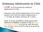 embarazo adolescente en chile