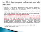 ley 20 418 promulgada en enero de este a o extracto
