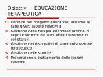 obiettivi educazione terapeutica