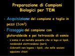 preparazione di campioni biologici per tem