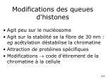 modifications des queues d histones1