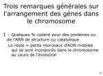 trois remarques g n rales sur l arrangement des g nes dans le chromosome