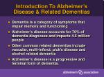 introduction to alzheimer s disease related dementias