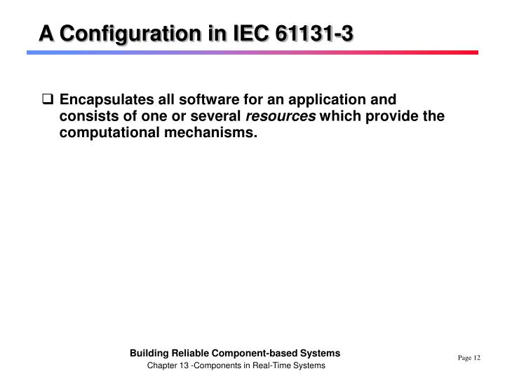 A Configuration in IEC 61131-3