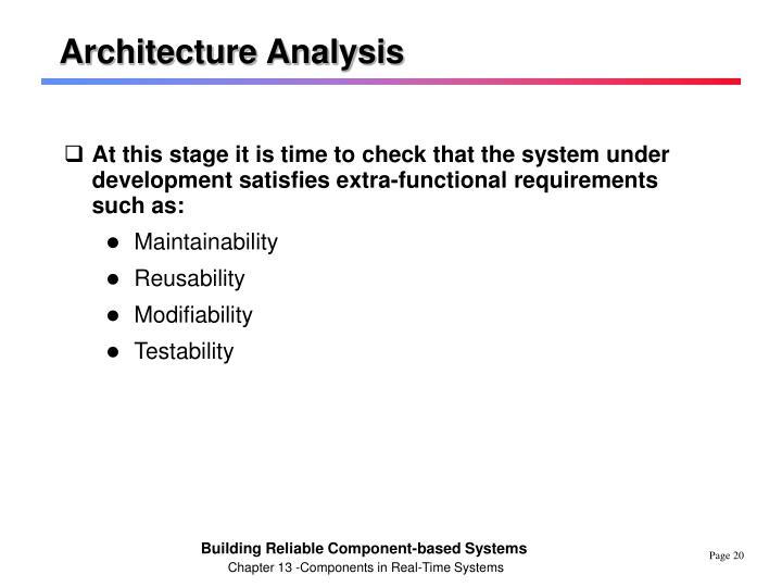Architecture Analysis