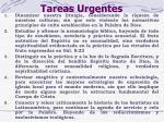 tareas urgentes