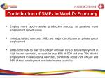 contribution of smes in world s economy